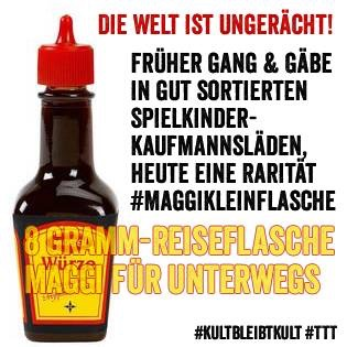 8 g Reiseflasche #Maggi (23.02.19) #TTT